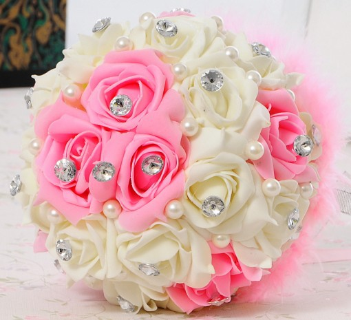 "2015 Fashion PE SILK Pearls Flowers ""HANDMADE"" Home"