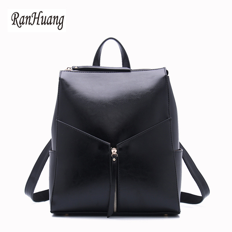 RanHuang Women Fashion Backpack Genuine Leather Backpack Designer School Bags For Teenage Girls Black Red mochila feminina A137 2016new rucksack luxury backpack youth school bags for girls genuine leather black shoulder backpacks women bag mochila feminina
