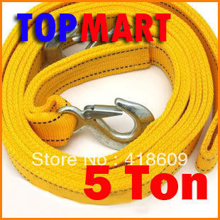 5 Ton 13ft/4 Meter Car Towing Rope Truck Double Metal Hooks Nylon Towing Strap Pulling Rope free shipping