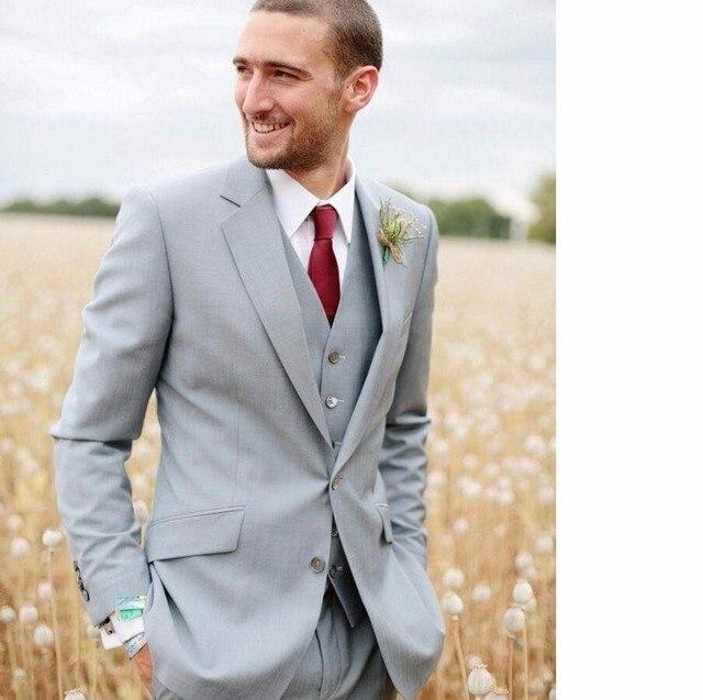 trajes de novio gris claro