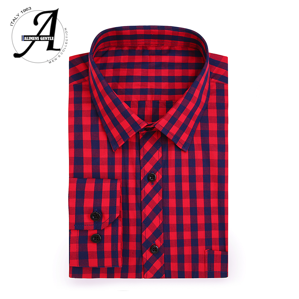 100% Cotton Men's Plaid Shirt Slim Fit Long Sleeve Brand Men Clothes 2018 Casual Shirts Male Chemise Homme Camisa Masculina