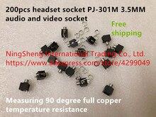 Toma de corriente 100% para auriculares PJ 301M toma de corriente de audio y vídeo de 3,5 MM, 90 grados, resistente a la temperatura, novedad
