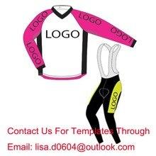 Envío gratis personalizada larga completa un ciclo Jersey y del babero pantalones personalizar invierno a prueba de viento Fleece ropa bike, la orden mínima 1