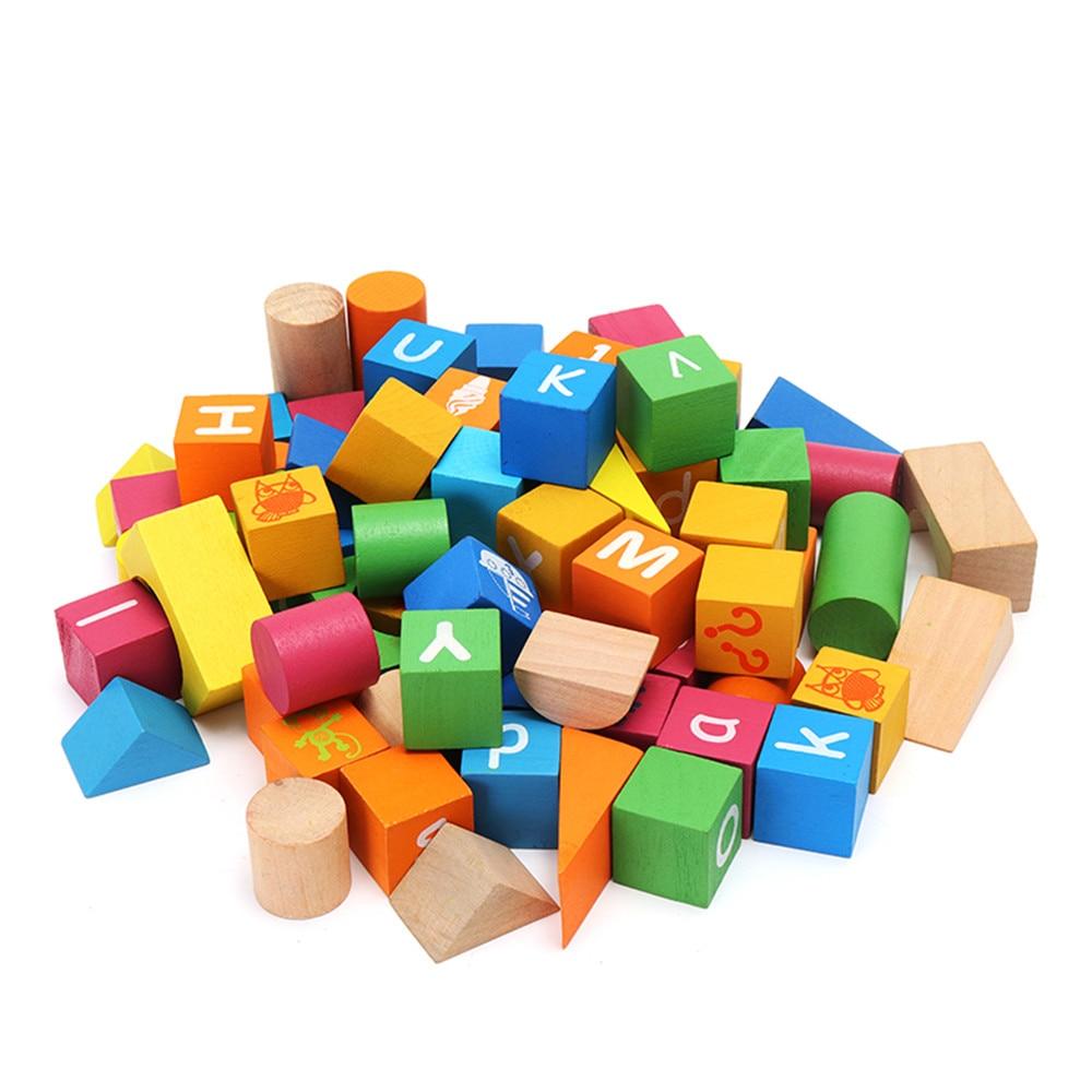 Umu 80 шт. красочные деревянные ABC буквы алфавита Scrabbles номер Craft английских слов блок КТК Детские Дети раннего обучения игрушки