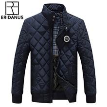 Winterjacke Männer 2016 Neue Herbst männer Casual Baumwolle Gesteppte jacken Koreanischen Slim Fit Fashion Stehkragen Solid Warme Mäntel M414