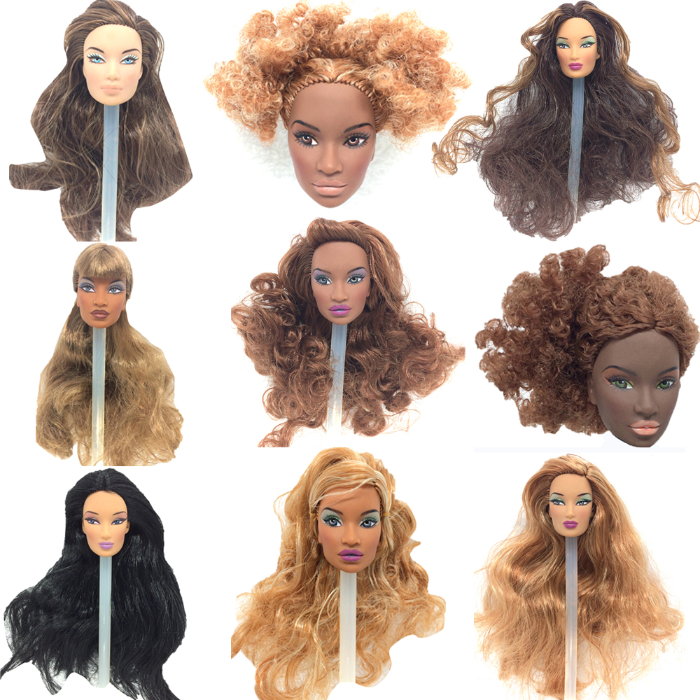 NK One Pcs FR Doll Head For FR Dolls <font><b>2002</b></font> Limited Edition Collection Brown Hair Best DIY Gift For Girls' Doll Accessories JJ image