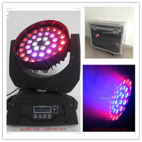 Free shipping 4 pieces/lot 36x15w rgbwa 5 in 1 big dipper moving head circle control led wash moving head zoom light