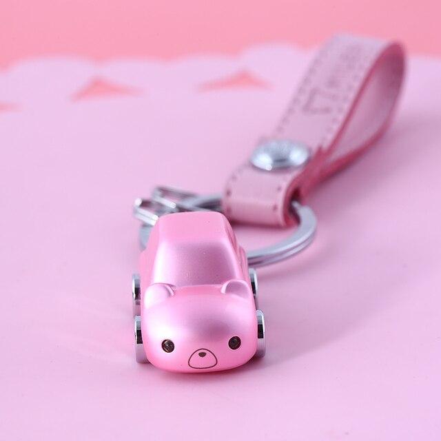 MILESI Magical Bear Car From Cartoon World Lovely Car Keychain Couple Love Keychain Best Valentine's Gift k0219