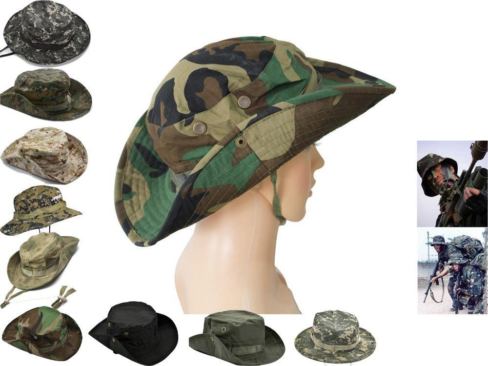 Outdoor Fishing Hunting Army Marine Bucket Jungle Cotton Military Boonie  Hat Cap Tactical Head Wear Military Hat 10 Colors-in Bucket Hats from  Apparel ... 9e04c927dd8