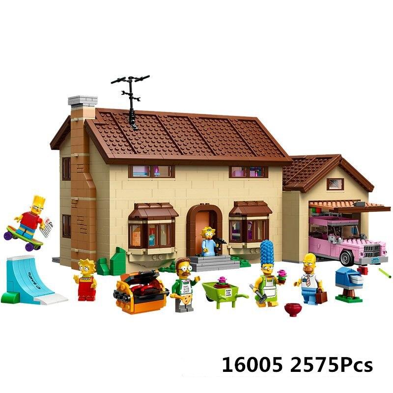 Lepin 16005 Legoing The Simpsons House 2575Pcs Model Building Blocks Toys For Children Compatible Simpsons Legoings Figure 71006 конструктор lepin creators simpsons дом симпсонов 2575 дет 16005