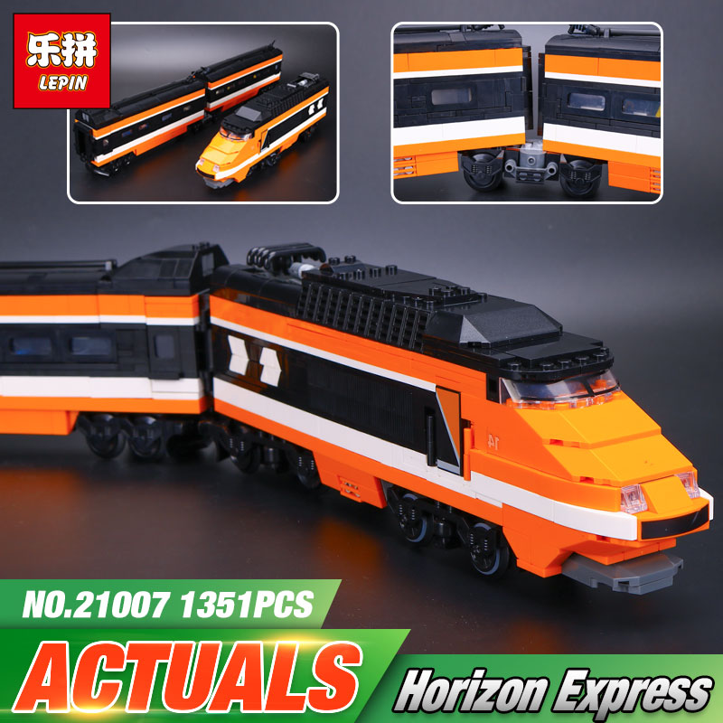 new lepin 21007 1351Pcs Out of print, the sky train Model Building Kits Blocks Bricks Toys Compatible With 10233