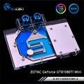 Bykski N-ST1080TIMI-X  полное покрытие графическая карта водяного охлаждения блок для ZOTAC GeForce GTX1080Ti Mini
