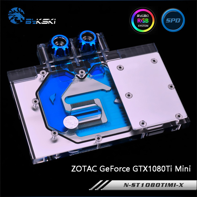 Bykski N ST1080TIMI X ، غطاء كامل بطاقة جرافيكس كتلة تبريد المياه ل ZOTAC GeForce GTX1080Ti Mini