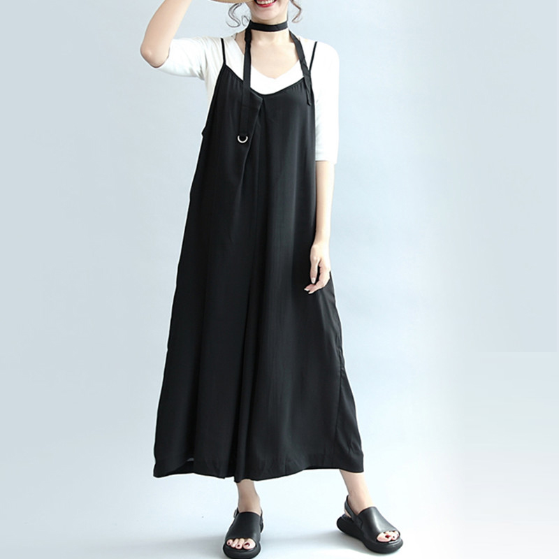 Jumpsuits Long Trousers Rompers Black Plus Size 5XL Sexy Party Wide Leg Pants Overalls Autumn Spring Low Cut Clothing Streetwear