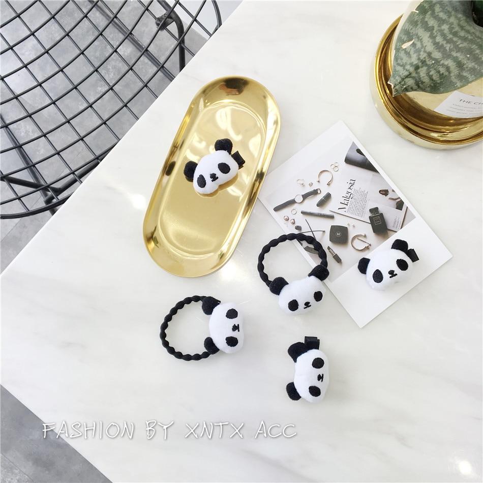 OfficiëLe Website Leuke Panda Kawaii Klassieke Mode Hoofd Touw Eenvoudige Ontwerp Elastische Haarbanden Zwart En Wit Rubberen Band Vintage Art Haar Ring Verschillende Stijlen
