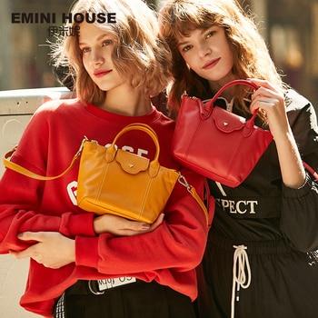 EMINI HOUSE Genuine Leather Crossbody Bags For Women Luxury Handbags Women Bags Designer Multiple Colors Ladies Shoulder Bag Shoulder Bags