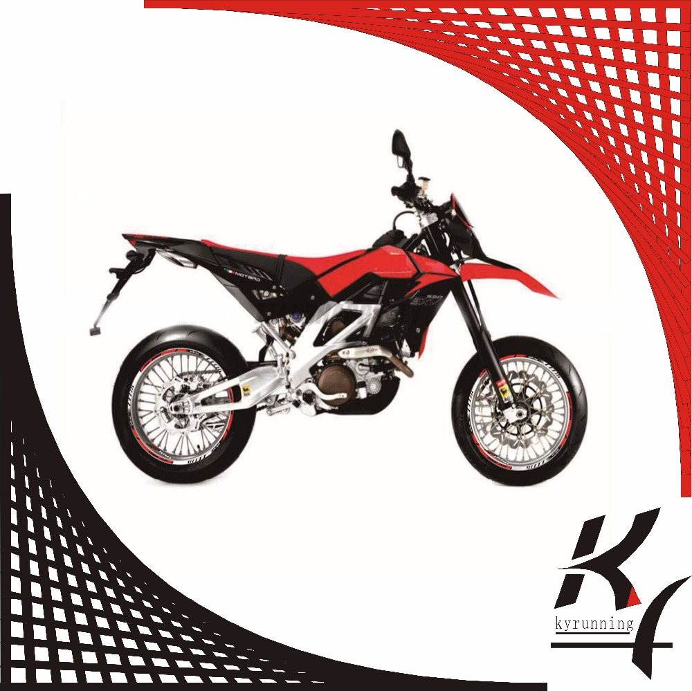 12 X Thick Edge Outer Rim Sticker Stripe Wheel Decals Fit All Aprilia Sxv Wiring Harness Sxv550 550 In Stickers From Automobiles Motorcycles On