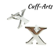 Cuffarts 26 Letters DIY Cufflinks A-Z Alphabet Cuff links Personality  Mix&Match Choose 2 Different For Initials C10094