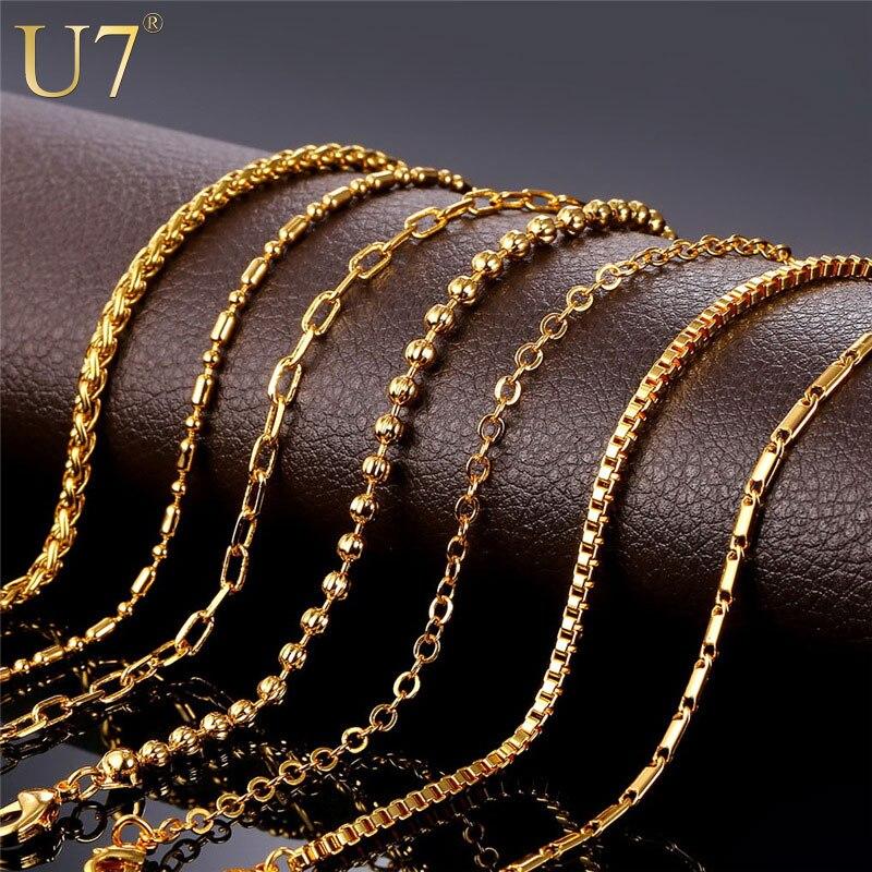U7 Brand DIY Chains Necklace For Pendant Men/Womens