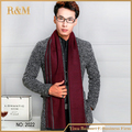 Mens Classic Cashmere Shawl Winter Warm Long Fringe Striped Tassel Wrap Scarf (wine red)