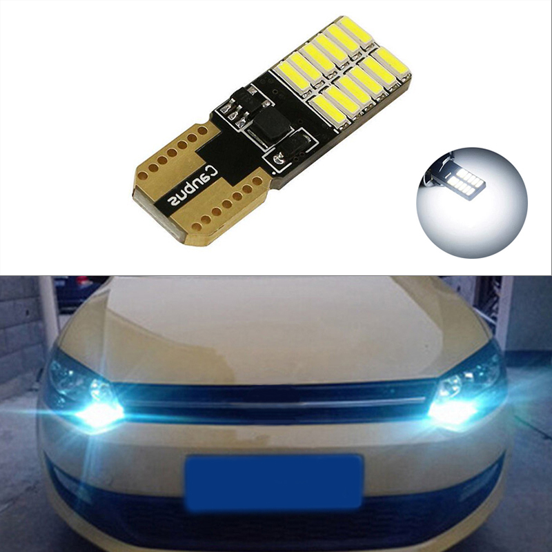 Ford Escort MK6 501 W5W Blue Interior Door Bulb LED 4-LED Quad Light Upgrade