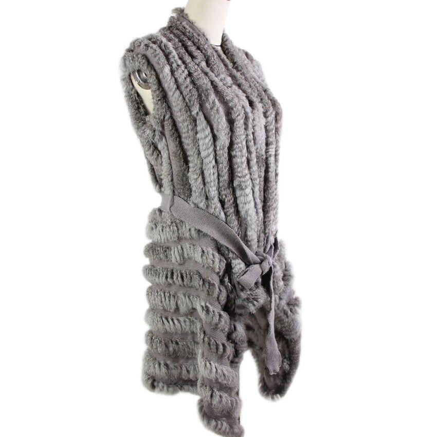 2019 Hot Sale Sweater Rabbit Fur Shawl Knitted Rabbit Fur Vest Fashion Fur Cape Rabbit Fur