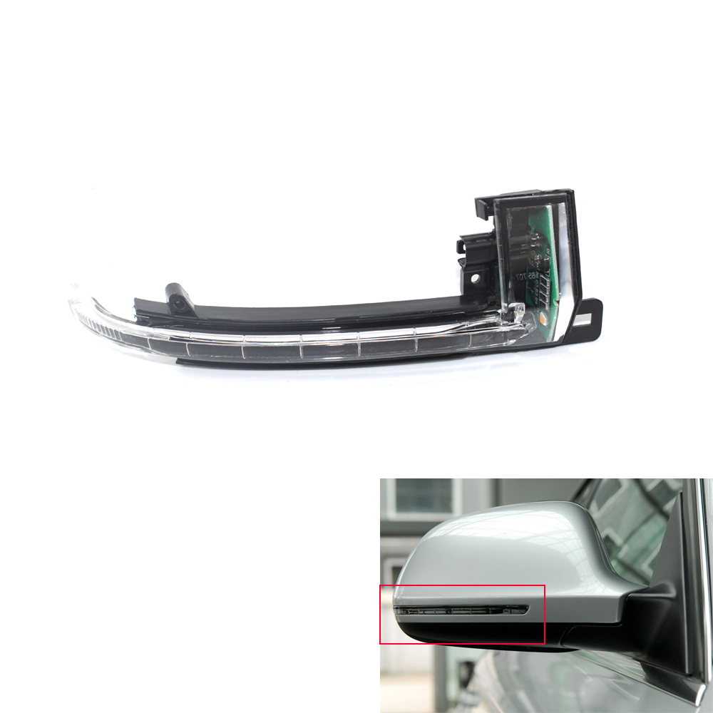 1 Pair Left and Right Side Turn Signals Light Rearview Mirror Lamp 8K0949101B for Audi A4 B8 A6 C6 A5 2008 2009 2010 2011 1 pair left