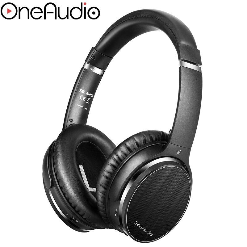OneAudio A3 Aktive Noise Cancelling Kopfhörer Bluetooth Wireless Hifi Über Ohr Headset Stereo ANC Faltbare Kopfhörer Mit Mic