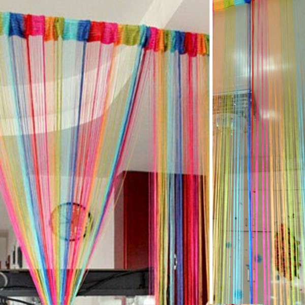 colorido cortina dulce cadena lnea panel separador de ambientes cortina decorativa cortina de ventana de la