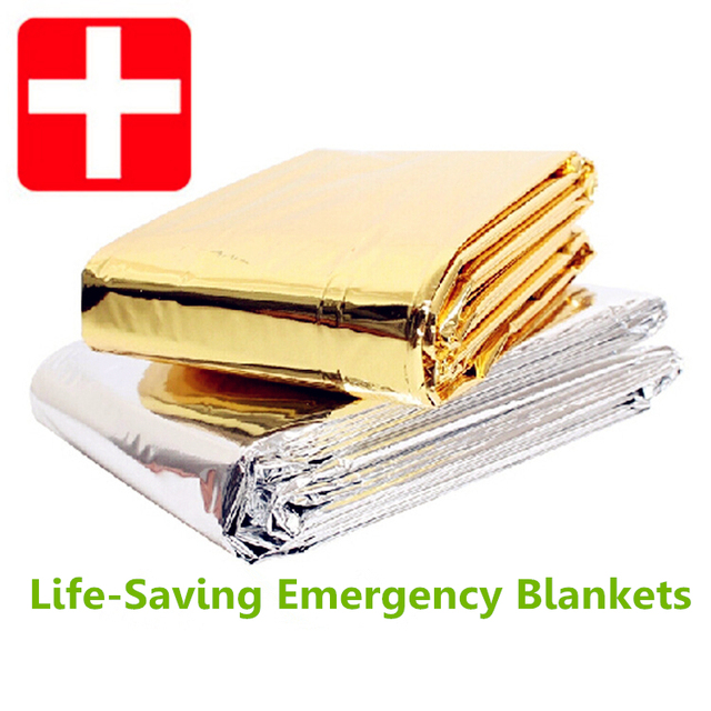 2015 Life-Saving Emergency Blankets Outdoor Sports Field Survival Camping Essential Insulation Blanket Sunscreen Free shipping