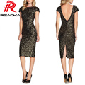 Reaqka sexy sequins beads mulheres dress 2016 hot party night clube moda verão womens lantejoulas magro bodycon lápis vestidos xxl
