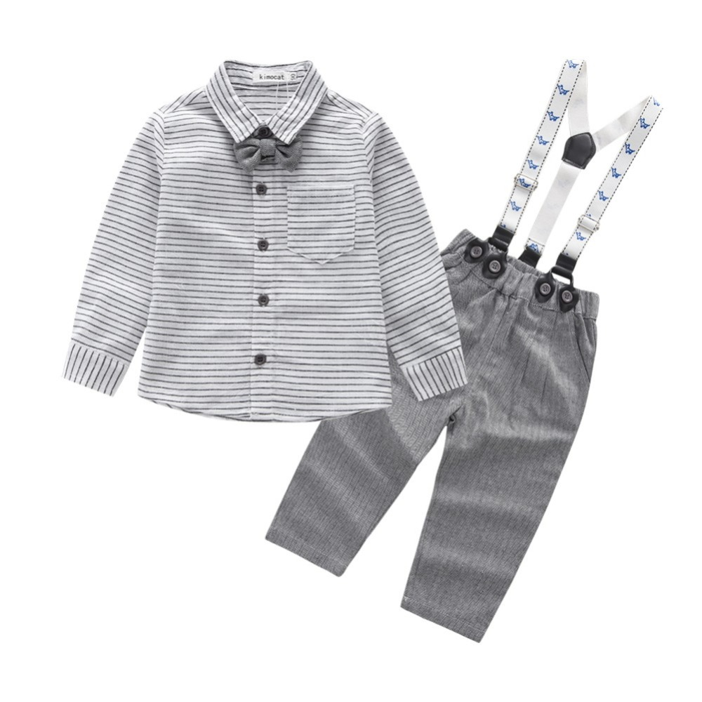 2018 Toddler Boys Clothing Set Summer Baby Suit Shorts Shirt Children Kid Clothes Suits Formal Wedding Party Costume toddler boys clothing set summer baby suit tops shirt casual long suspender pant trousers sets formal wedding party costume