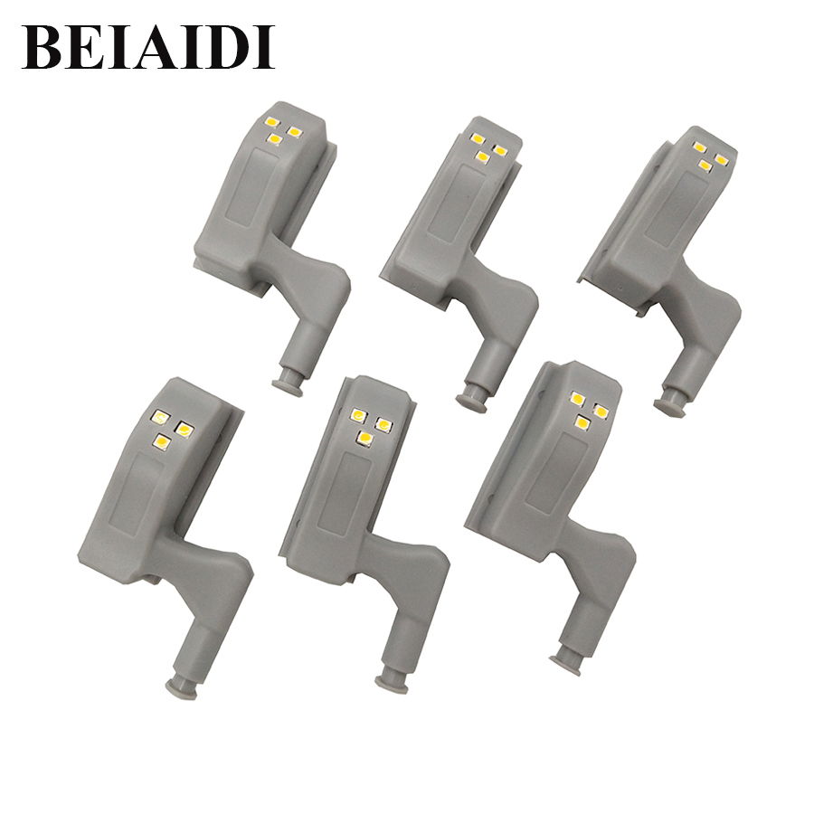 BEIAIDI 10pcs/Lot Mini Cabinet Cupboard Inner Hinge LED Light Universal Hinge LED Sensor Light Closet Wardrobe Inner Night Lamp