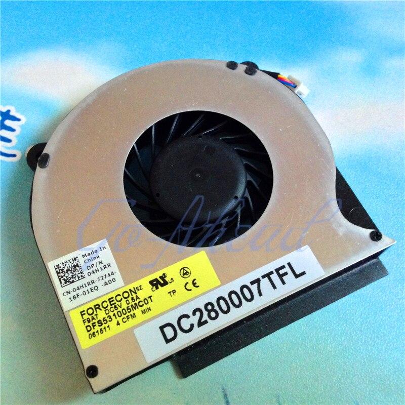 Новый вентилятор охлаждения для ноутбука DELL Latitude E6400 E6410 E6510 DP/N 04H1RR DFS531005MC0T F9A7 радиатор охлаждения процессора