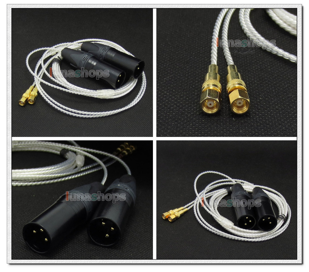 3pin XLR PCOCC + Silver Plated 1.3m 2m 2.5m Cable for HiFiMan HE400 HE5 HE6 HE300 HE560 HE4 HE500 HE600 Headphone LN004728