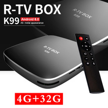4 ГБ 32 ГБ Rockchip RK3399 R-ТВ коробка K99 Android 6.0 ТВ коробка 802.11AC 2.4 г 5 г двойной WI-FI BT4.0 1000 м LAN USB3.0 Тип-C media player