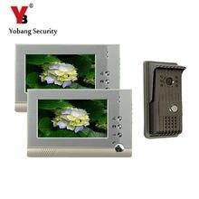 YobangSecurity 7″LCD Monitor Wired Video Intercom Doorbell Video Door Phone Bell Kits Monitor,Unlock,Dual-way 1 Camera 2 Monitor