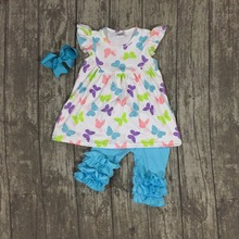 baby girls summer outfits children girls butterfly capri pants clothes baby girls boutique summer outfits with bows