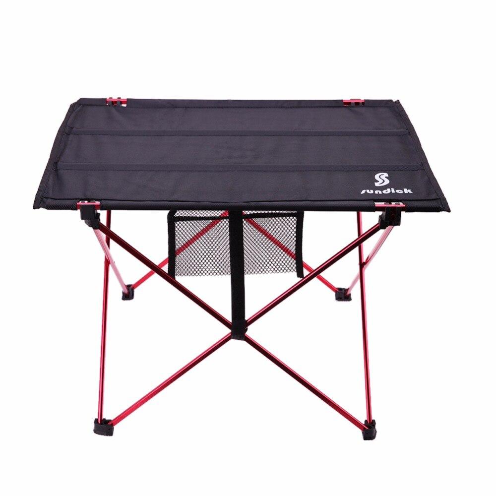 Mobilya'ten Dış Mekan Masaları'de Hafif alüminyum alaşım taşınabilir katlanır masa açık kamp için Activties katlanabilir piknik barbekü masası katlanır masa