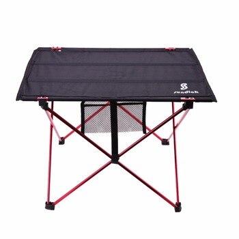 Liga de alumínio leve mesa dobrável portátil para atividades de acampamento ao ar livre dobrável piquenique churrasco mesa dobrável