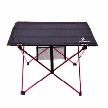 軽量アルミ合金ポータブルキャンプのテーブル屋外activties折りたたみピクニックバーベキューデスク折りたたみテーブル