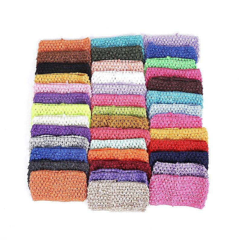 (6pcs/lot) 2016 7*15CM Baby Hair band Crochet Headbands Children Hair bands Kids Accessories hair bands children 40color #Y2427