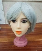 цена на Real silicone sex dolls heads for realistic oral sex doll head real sex doll head for sexy doll 135cm-176cm TPE mens toy #2