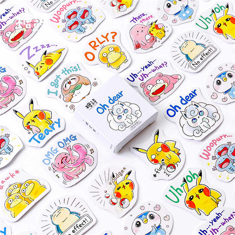 45pcs/box Spirit Pets Stationery Sticker Label Kawaii Diary Handmade Adhesive Paper Flake Japan Sticker Scrapbooking