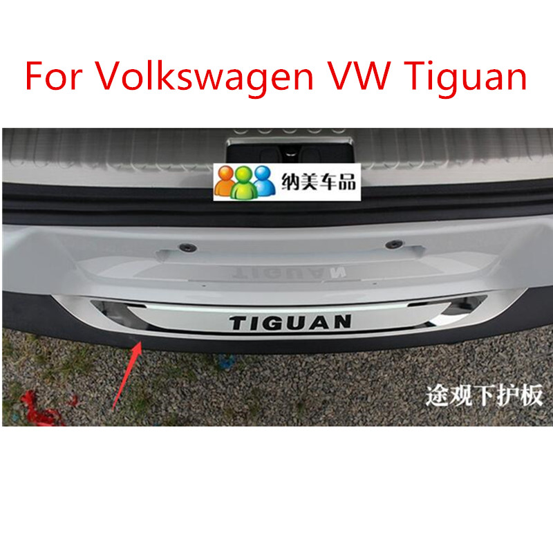 High-quality stainless steel Rear Bumper Protector Plate Fit For Volkswagen VW Tiguan 2009 2010 2011 2012 2013 2014 2015 2016