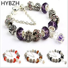 HYBZH Multi-style Flower crown Charm bracelet for Women DIY Beads Jewelry Fit Original styles Bracelets Pulseira Gfit