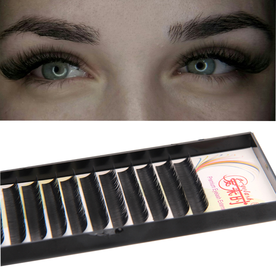 Creative J & S 1tray New 0.03 0.05 0.07 0.10 0.15 B C D Curl Faux Mink False Eyelashes Individual Natural Fake Eye Lashes Extension Beauty & Health