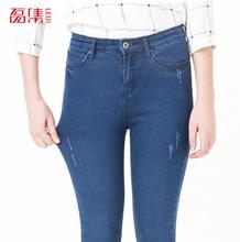 2016 Plus size spring and autumn fashion slim black denim jeans female trousers women's high-elastic skinny pencil woman 5XL 6XL