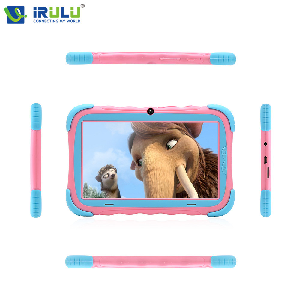 Original iRULU Y5 7 Babypad 1024*600 IPS Quad Core Tablet Android 7.1 1G RAM+16G ROM with Silicone Case Tablet For Children LCD babypad 7 inch 1024 600 hd android 4 4 tablet pc for kids quad core dual cameras google 8gb rom case free christmas gift
