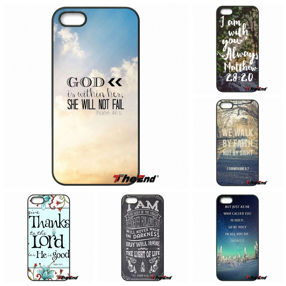 baaa6804a29 Phone case Christian Jesus psalm bible verse quote For iPhone X 4 4S 5 5C  SE 6 6S 7 8 Plus Galaxy J5 J3 A5 A3 2016 S5 S7 S6 Edge